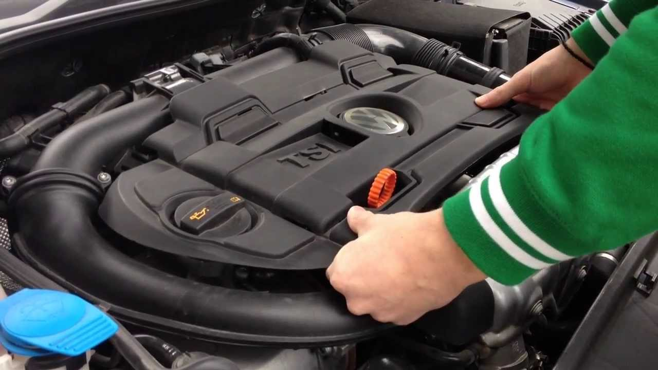 how to remove engine cover on vw golf/polo/passat/scirocco/tiguan