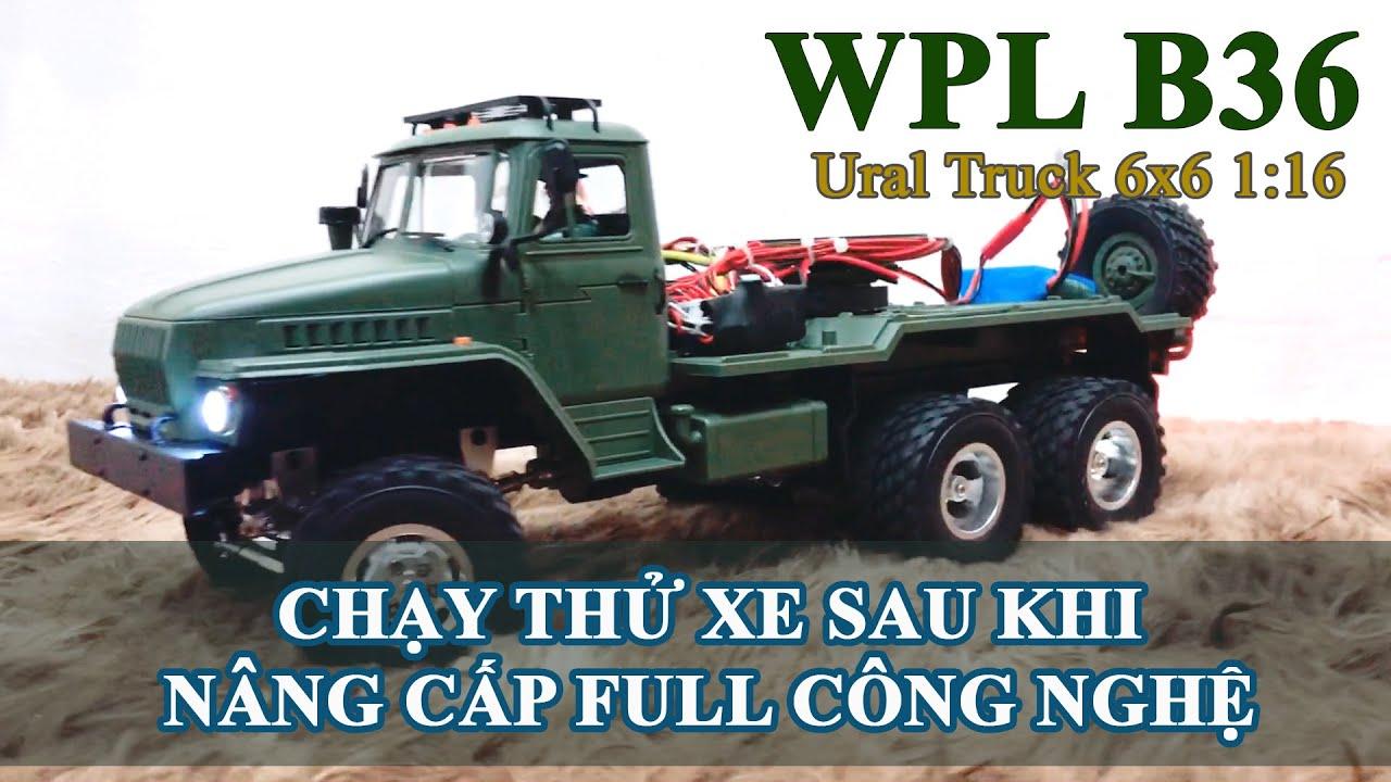 Chạy thử chiếc xe WPL B36 - Ural Truck 6x6 1:16 (Loading 90%)