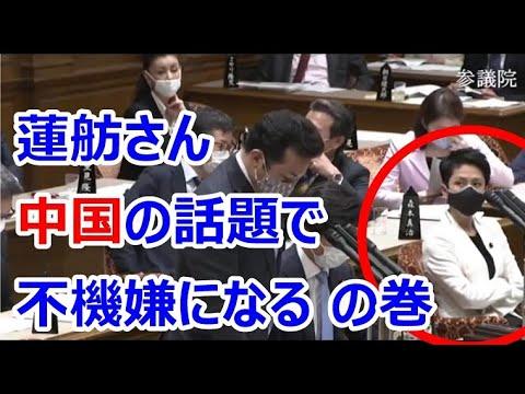 令和2年4月30日 自民・宇都議員「中国漁船と海自護衛艦の衝突事故について」→なぜか蓮舫さんの様子がおかしくなる