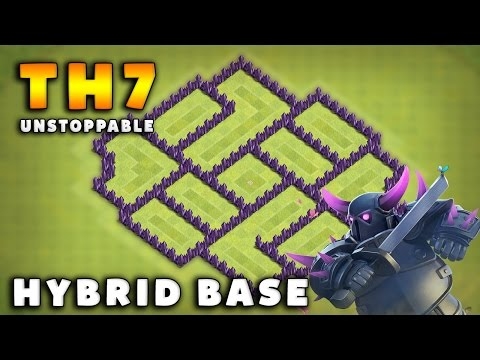 Clash Of Clans TH7 Hybrid Base - PROTECT YOUR LOOTS! | 2016