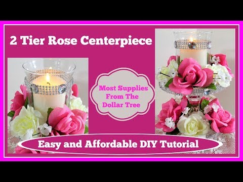 rose-💖2-tier-wedding-centerpiece-with-lots-of-bling!!💖