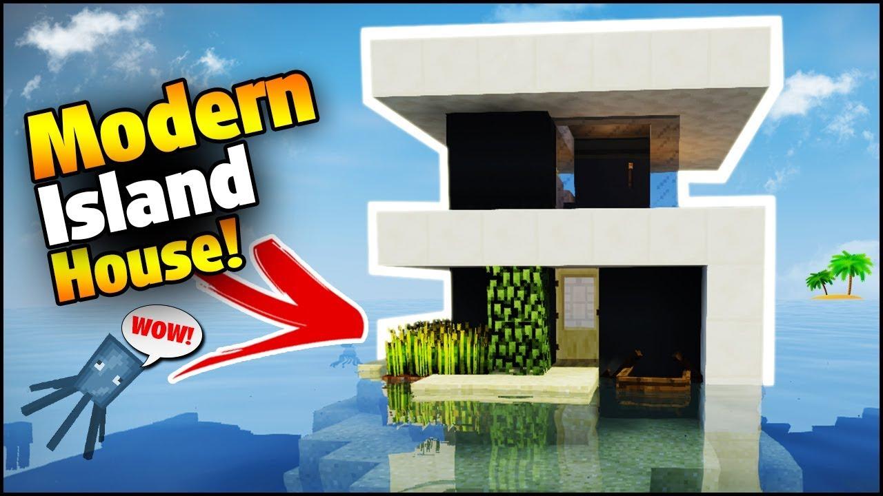 Minecraft: Modern Island House Tutorial
