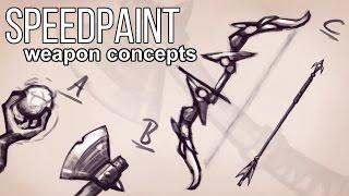Fantasy Weapon Concepts - Speedpaint #41
