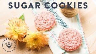 Dahlia Sugar Cookies For My Wedding Dessert Bar - Honeysucklecatering