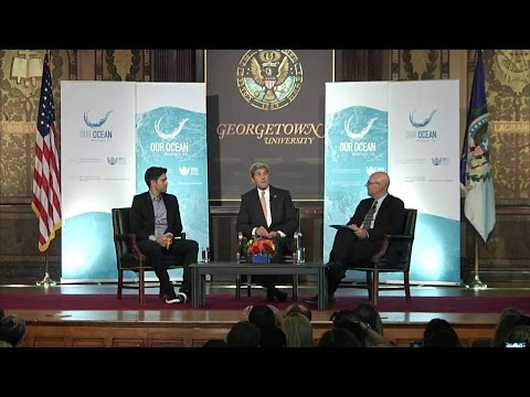 Ocean Protection Discussion with Secretary Kerry and Adrian Grenier