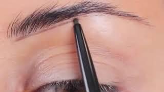 Как за несколько секунд  рисовать брови