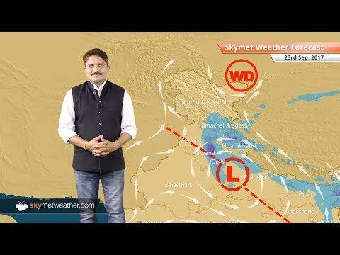 [Hindi] 23 सितम्बर के लिए मौसम पूर्वानुमान: उत्तराखंड, उत्तर प्रदेश और दिल्ली में भारी वर्षा के आसार