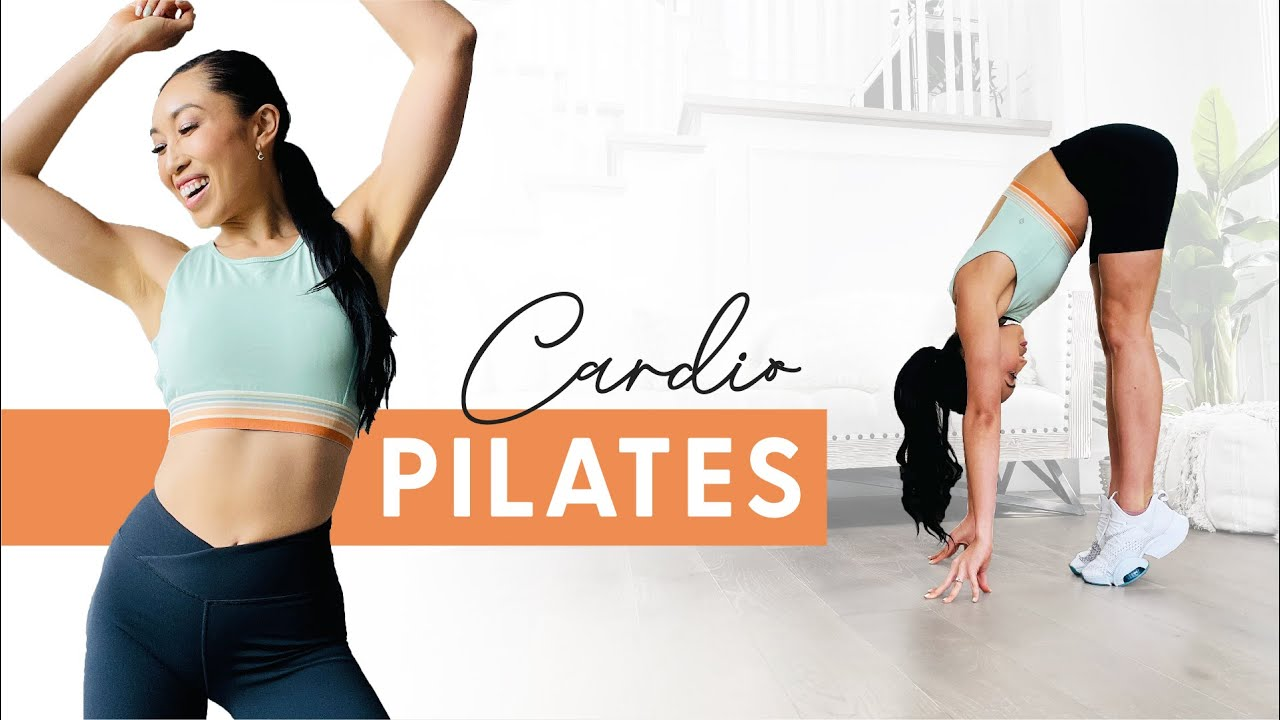 10 Minute Cardio Pilates Workout - burn fat + tone muscle, no jumping!