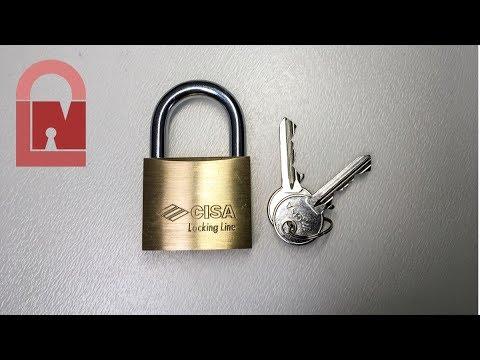 Взлом отмычками CISA Locking Line 210/50   (235) CISA Locking Line 210/50 Picked out of a Package from Monkey Lockpicks!