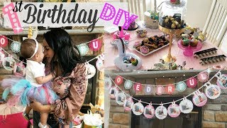 Diy Birthday Party Decorations// 1st Birthday Party For Girl // How To Make A Tutu
