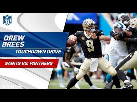 Drew Brees Tears Through Carolina Defense on TD Drive!   Saints vs. Panthers   NFL Wk 3 Highlights