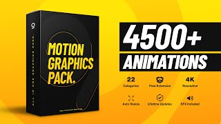 4500+ Gaze Graphics Pack for After Effects by Dope Motions