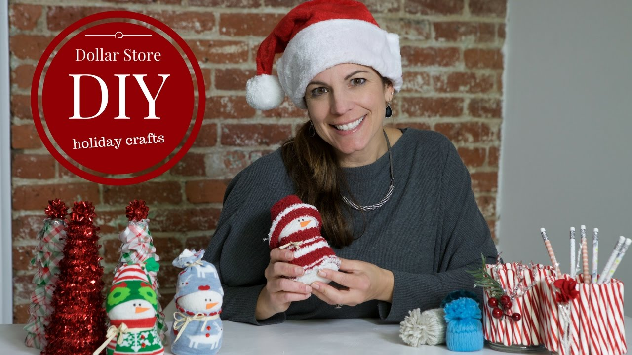 dollar store diy holiday crafts youtube - Dollar Store Christmas Crafts