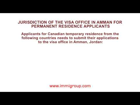 Jurisdiction of the visa office in Amman for temporary residence applicants