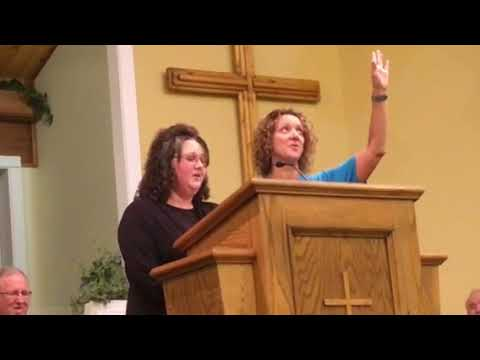 Anita and Tonya-There is a fountain