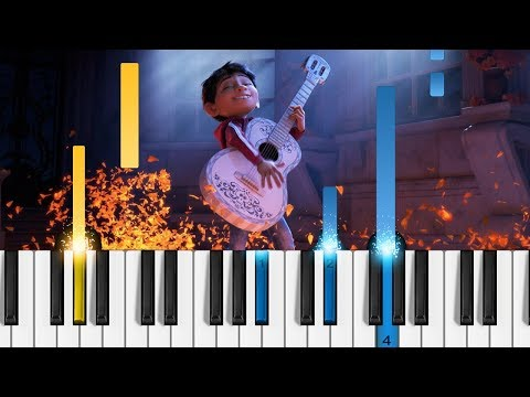 Disney's Coco - Remember Me (Recuérdame) - EASY Piano Tutorial
