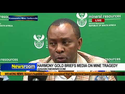 Harmony Gold briefs media on mine strategy