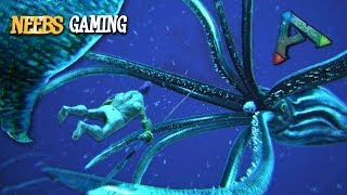Ark: Survival Evolved - Giant Squid Attack!!!