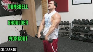 Intense 5 Minute Dumbbell Shoulder Workout