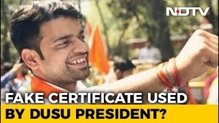 DUSU President Submitted Fake Documents To Get Admission, Claims NSUI