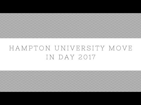 Hampton University Move in Day 2017 Vlog #1
