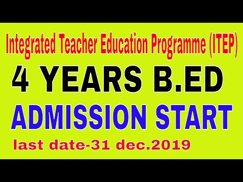4 year integrated teacher education programme (ITEP)  चार वर