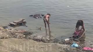 Aghori Baba Bathing In Ganges Varanasi