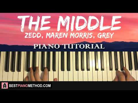 HOW TO PLAY - Zedd, Maren Morris, Grey - The Middle (Piano Tutorial Lesson)
