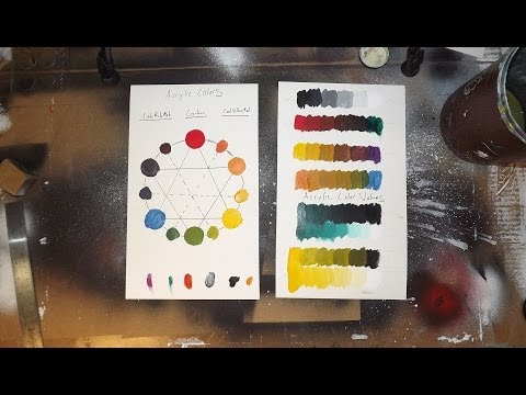 Acrylic Painting Tutorial - Color Theory Exercises