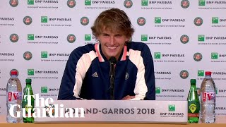 Alexander Zverev has admitted that the only person capable of making him smile after his French Open defeat was Bradford-born broadcaster Jonathan Pinfield.