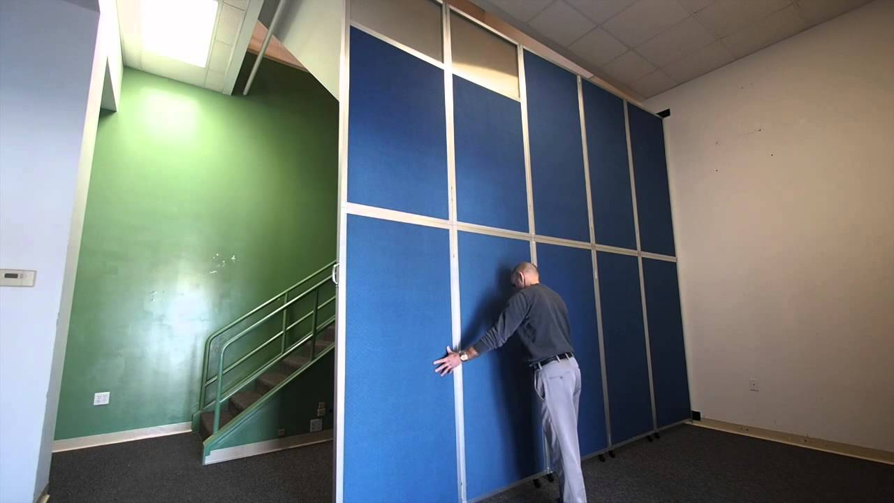 Versare Operable Wall - Folding Accordion Room Divider - YouTube
