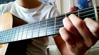 eng esp guitar tutorial 4 easy basic chords am f c g