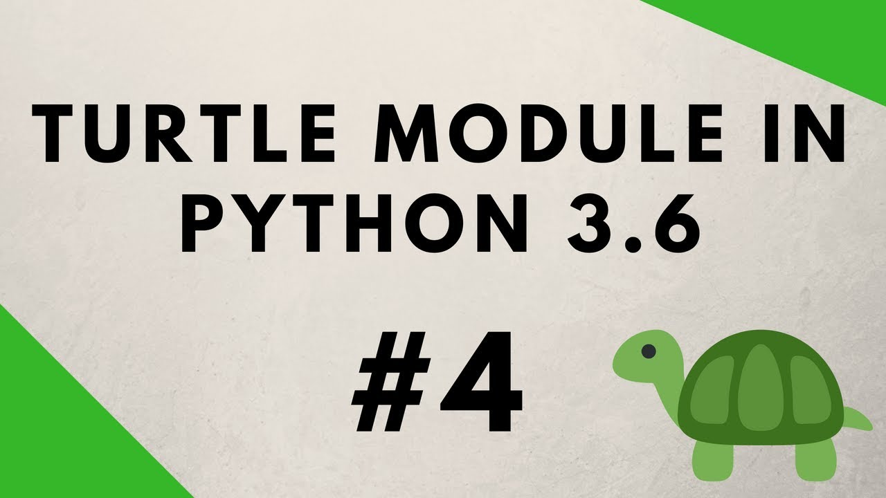 Python Turtle Graphics Tutorial #4 - Drawing With Mouse