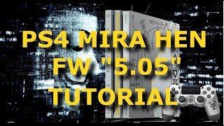DESBLOQUEIO PS4: TUTORIAL MIRA HEN FW 5.05 PLAYSTATION 4 TODOS OS MODELOS PKG INSTALER