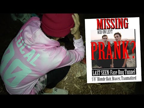 TYLER PRANKED ME AT THE FAZE RUG TUNNEL (MISSING BROTHER PRANK)