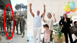 FAMILY SURPRISES MARINE RETURNING HOME