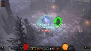 Diablo III: Barbarian Set Dungeon - Wrath of the Wastes, Solo in 2:25 (Patch 2.4.3)