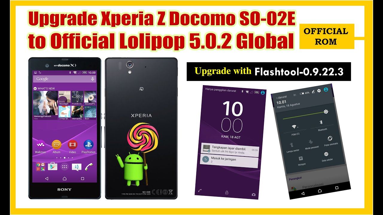 Upgrade Sony Xperia Z Docomo So 02e To Lolipop 5 0 2 Hp Second Z4 Compact Ram Gb Rom 16