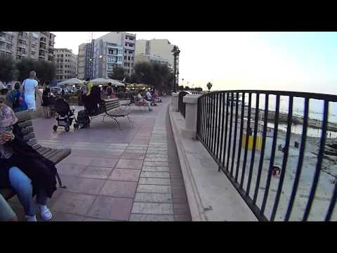 Cycling the bay. Malta. Sliema & St. Julians. Sony HDR AS15.