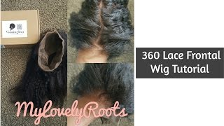 how to make a 360 lace frontal wig   detailed tutorial   coming buy