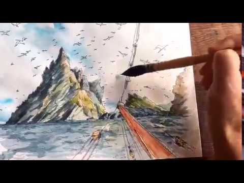 One Minute Tutorial: Painting Dramatic Sky