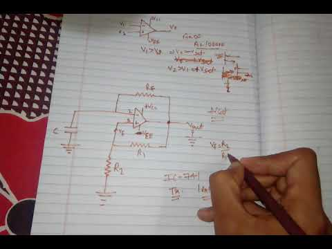 Square wave generator using op-amp in hindi(op-amp Astable multivibrator)