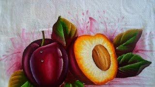 Como pintar Ameixas em tecido por Arte com Marcos Pedro