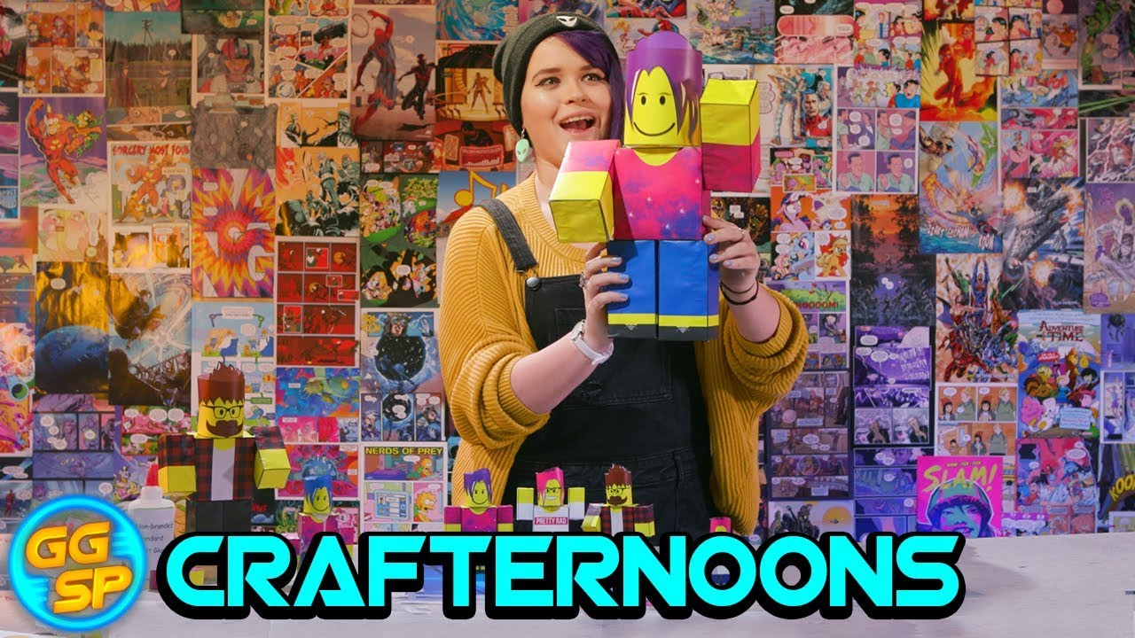 How To Make Your Own Roblox Paper Figurines Crafternoons Youtube