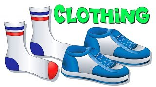 """Clothing Lesson"" - Teach Names of Clothes, Kids Learn English, ESL, EFL, Kindergarten Toddler Video"