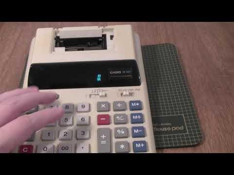 Старый калькулятор Casio с принтером Обзор
