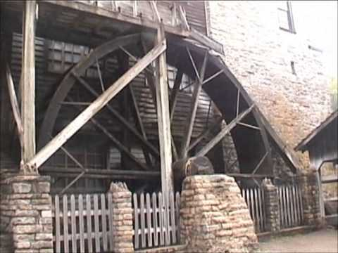 Spring Mill, Mitchell Indiana, Water Wheel, Mill Stones & Miller