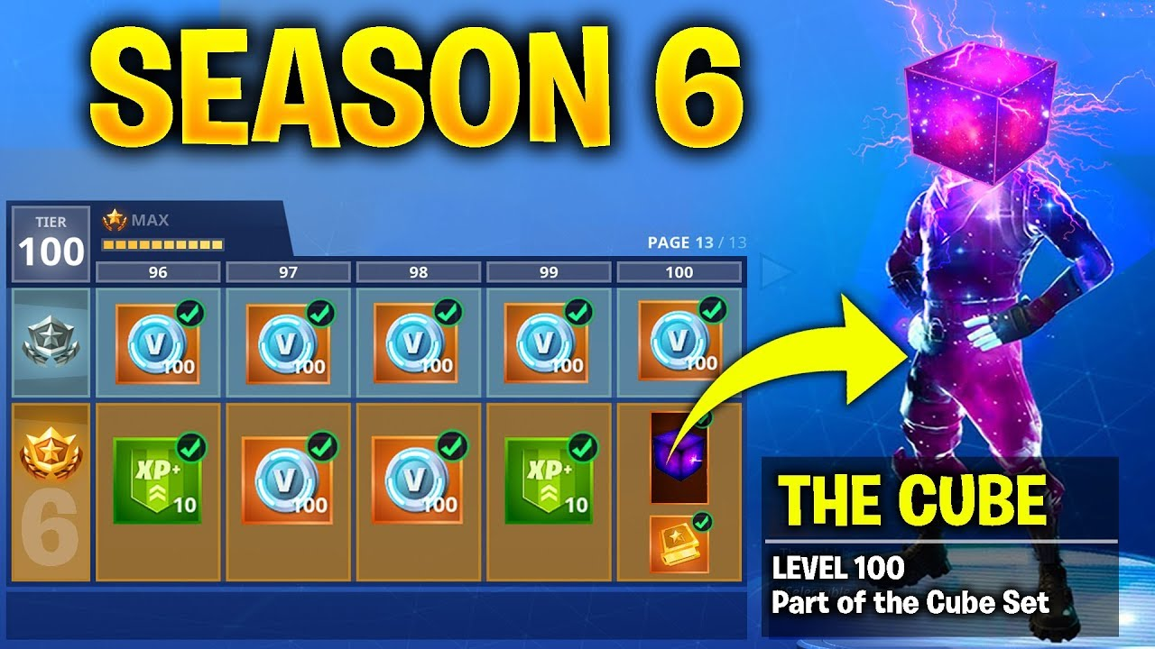 Fortnite Season 6 Battle Pass New Skins Cube Event Release Date