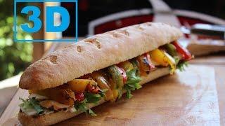 Lemon & Wine Marinated Grilled Chicken Sandwich (3d Version)