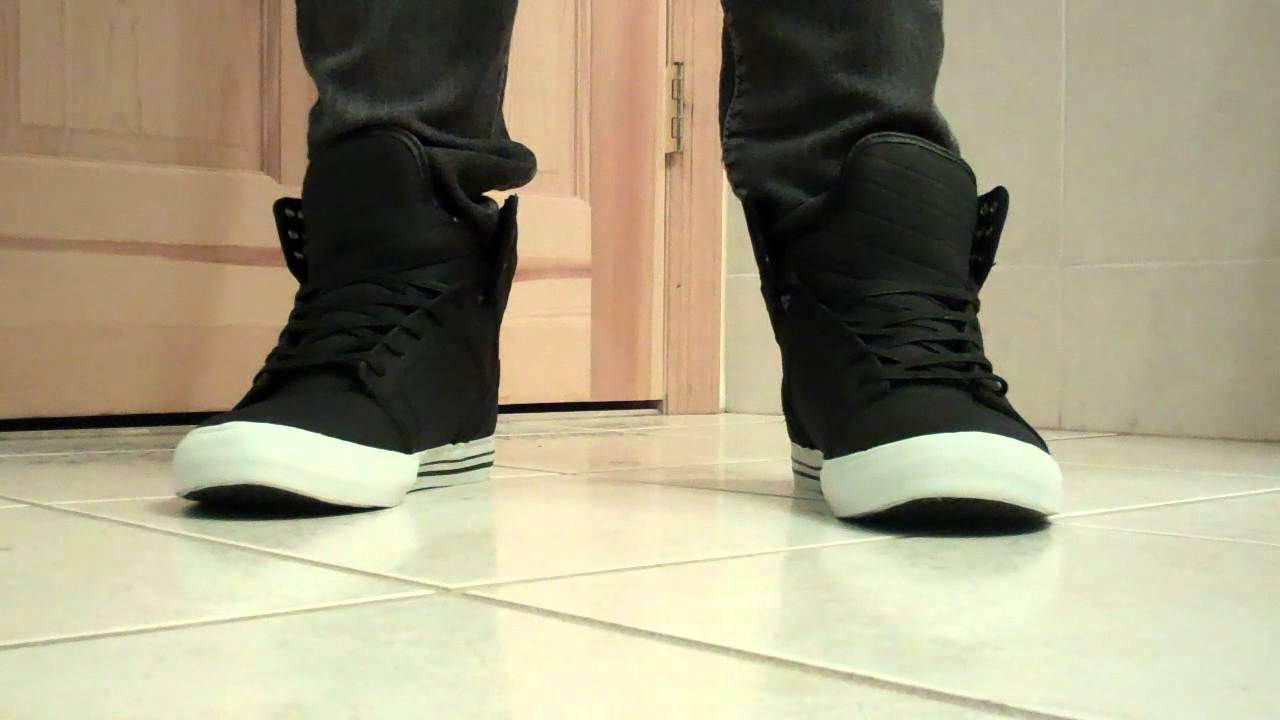 sale retailer 119f4 538aa Supra Skytop Tuf Black on Feet